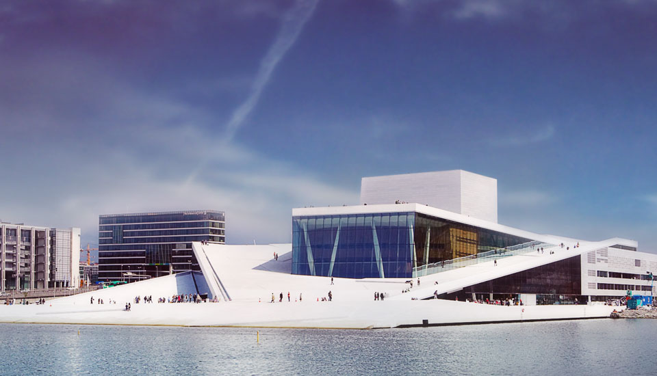 Oslo Opera House - convex and concave cladding